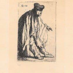 Rembrandt ets, Bartsch B. 150, Bedelaar met uitgestoken linkerarm