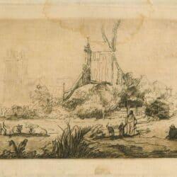 Rembrandt drawing, Benesch 802,