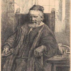Rembrandt ets, Bartsch B. 276, New Hollstein 293, De goudsmid Jan Lutma (1584-1669)