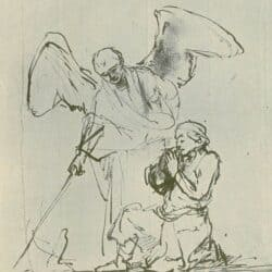 Drawing Rembrandt, Willem Drost, Tobias and the Angel with the Fish, Benesch 573