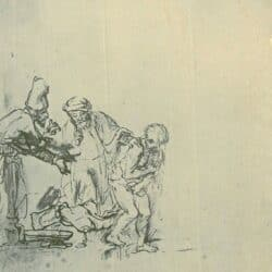 Rembrandt tekening, Susanna en de ouderlingen,
